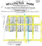 Plan of Wellington Park subdivision, 1908 The Street plans for Clark, Birch St, Caroline, Burlington, Hurd, Hager, Ontario