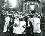 "Wedding party and guests at the wedding of Alma Maude Mary FreemanWilliam Asbury Buchanan, at ""Maplehurst"", now 906 Brant St, 1903"