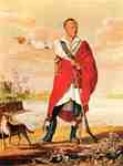 Portrait of Thayendanegea (Joseph Brant), ca 1807, by Canadian artist William von Moll Berczy (1748 - 1813)