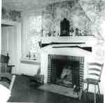 Thomas and Charlotte Alton Homestead interior with fireplace, 4083 (formerly 4059) Dundas Street (Con 1 NDS Pt Lt 10), now 3215 Settlement Court, 1974
