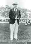 """M. M. """"Bobby"""" Robinson wearing the official blazer uniform at the first British Empire Games in Hamilton, 1930"""