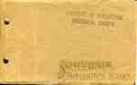 """""""Souvenir: Burlington School"""" booklet, front cover, 1912"""