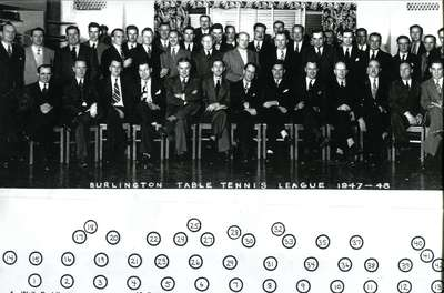 Burlington Table Tennis League, 1947 - 1948