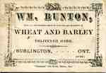 William Bunton advertisement  card, ca 1876