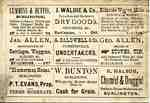 William Bunton advertising card, reverse, ca 1876