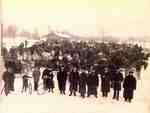 "Old Aldershot ["" Waterdown""] train station in winter, 1899"
