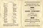Band Concert Programme, 1950