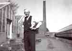 George Unsworth at the Unsworth Greenhouses, Plains Road West,