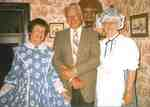 Marie Bush, Eric Gudgeon and Helen Caldwell in Ireland House, ca 1980