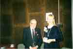 Dr. James Galloway with Kimberley Short, 1999