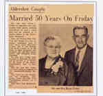 50th wedding anniversary of Grace and Byron Cutter, June 1962