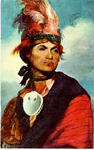 Joseph Brant -- painting with sky background
