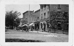 Brant St., Burlington Ont. -- view of Royal Bank with no awning; postmarked  October 1, 1917 (?)