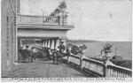 Verandah of the Brant Hotel, Burlington Beach, Ontario. Grand Trunk Railway System -- Exterior; postmarked August 16, 1912