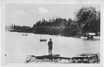 Scene near Military Hospital. Burlington Ont. -- Man near water