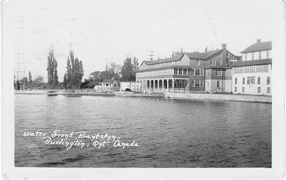 Water Front, Brant Inn, Burlington, Ont. Canada; postmarked July 26, 1929