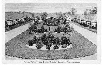 Pig and Whistle Inn, Bronte, Ontario. Bungalow Accomodation. -- Exterior, Bungalow village.