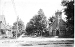 Locust St. & Baptist Church, Burlington, Ont.; postmarked August 25, 1918