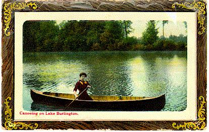 Canoeing on Lake Burlington -- Woman in canoe