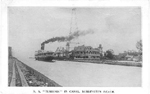 "S.S. ""Turbina"" in Canal, Burlington Beach."