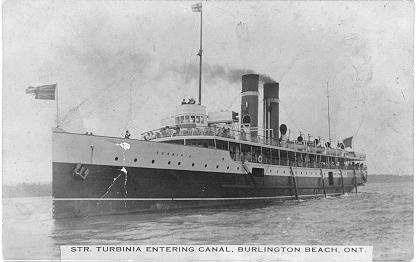 Str. Turbina Entering Canal, Burlington Beach, Ont; postmarked September 13, 1917