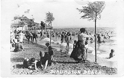 Burlington Beach; postmarked June 11, 1921