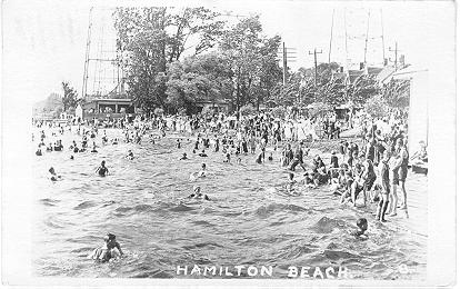 Hamilton Beach; postmarked July 18, 1921