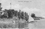 Lake Shore, Burlington, Ont. -- view of a sailboat; postmarked February (?) 1, 1910