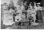 Baxter family and friends at a tennis party at Chestnut Villa, 22202222 Lakeshore Road, ca 1912