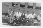 Leonard Morris (Morse), Art Brame, Jack ?, Garfield Walker, Harold ?, &amp; Andrew ?,  1923