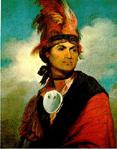 Portrait of Joseph Brant, Thayendanegea,  by Gilbert Stuart, 1786