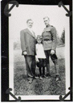 Ellis Hughes Cleaver, Ivan Cleaver, E. Hughes Cleaver Jr. in uniform,  ca 1917