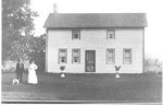 Russell Emery and Pansy (née Filman) standing by their house, formerly 136  Plains Road East, 1901 (1907?)