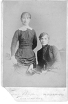 Misses Edith and Sarah Allen, ca 1889