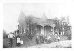 The Prudham Homestead with three generations of the family, 1024 Britannia Road or 5789 Town Line Road West, ca 1888