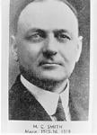 M.C. Smith, Mayor of the Town of Burlington, 1915 - 1916,  1919