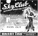 """Pass Out"" for the Sky Club, Brant Inn, Lakeshore, 1936"