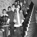 "Students visiting ""Pine Hall"", the Van Norman - Breckon House, 955 Century Drive,  ca  1975"