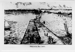 Burlington Bay Canal and boardwalk, ca 1900