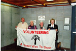 Burlington Historical Society  Volunteer Appreciation Night, April 1995: Mac Pearston, Florence Meares, Jean Galloway and Ruth Borthwick