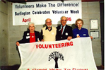 Burlington Historical Society Volunteer Appreciation Night, April 1996: Florence Meares, Mac Pearston, John Borthwick and Ruth Borthwick