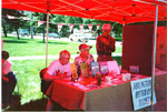 Burlington Historical Society  at Canada Day, 1996: Katherine Clifton, Edna Phillips and Charlie Davis