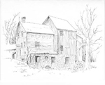 Dakota Mill, Cedar Springs, drawing by Gery Puley, 1978