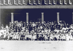 Group in front of La Salle Park Pavilion, Aldershot, ca 1920