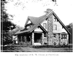 The Hoose bungalow, now 3077 Lakeshore Road, 1912