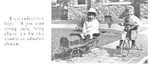 Boys with pedal-car and tricycle, Pine Cove, 1912