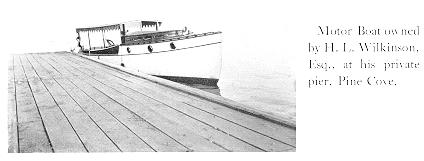 Motor Boat owned by H.L. Wilkinson, Esq., Pine Cove, ca 1912