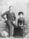 Wedding portrait of Albert Edward Alton and Elizabeth Minerva Henderson, ca 1886