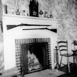 The Thomas and Charlotte Alton Homestead interior with fireplace, 4083 (formerly 4059) Dundas Street (Con 1 NDS Pt Lt 10), now 3215 Settlement Court, 1974