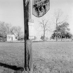 "Farm sign for George Alton Homestead, ""Lonview Farms"", 3505 Dundas Street (Lot 11, Concession 1  NDS), 1974"